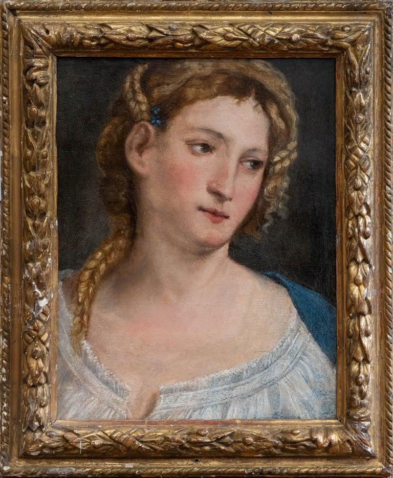 Paris Bordone Figurative Painting - 16th Century Italian Renaissance Extremely Rare Oil Painting Portrait of a Lady