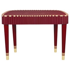 Paris Bureau Burgundy Study Desk Writing Table by Matteo Cibic