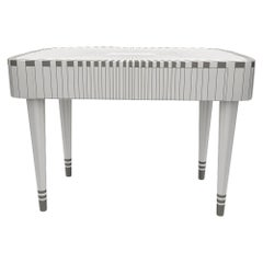 Paris Bureau White and Gray Study Desk Writing Table by Matteo Cibic