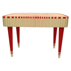 Paris Bureau Red and White Study Desk Writing Table by Matteo Cibic