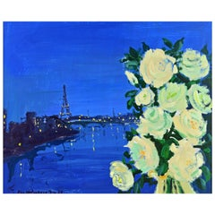 'Paris by Night' Poetic Impressionist Gem by Eva Holmberg Jacobsson, Swedish