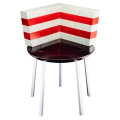 Paris Chair in Veneer and Metal by Martine Bedin for Memphis Milano Collection