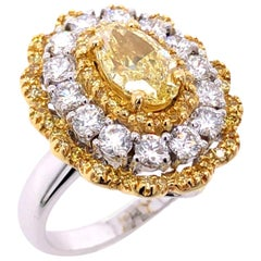 Paris Craft House 1.32ct Fancy Yellow Diamond Cocktail Ring/Pendant in 18K Gold