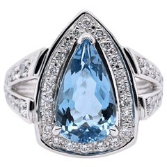 Paris Craft House 2.16 Carat Aquamarine Diamond Ring in Platinum