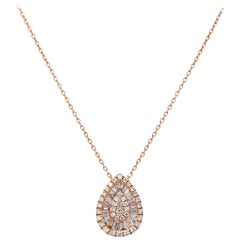 Paris Craft House Diamond Cluster Pendant in 18 Karat Rose Gold