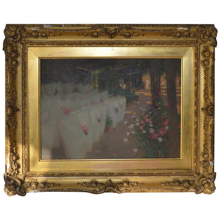Paris Flower Market, Stuart Hobkirk, circa 1910 For Sale