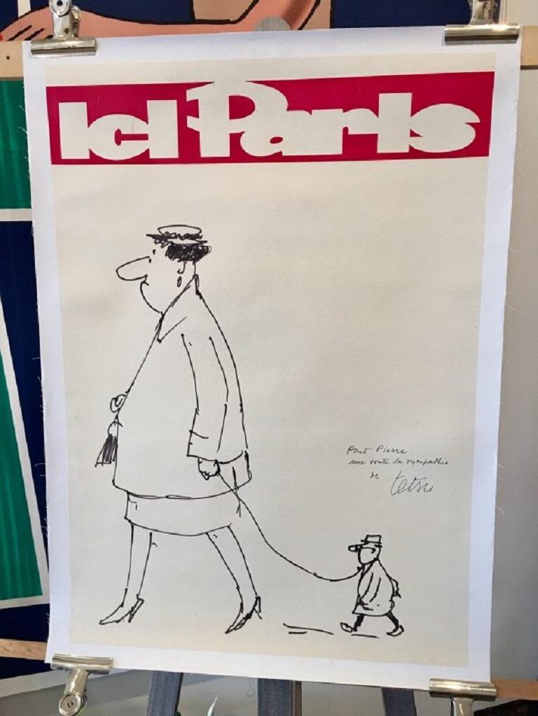 Mid-20th Century Paris Here Original Vintage Poster For Sale