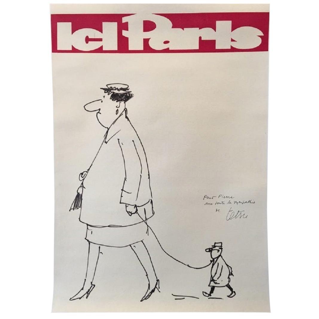 Paris Here Original Vintage Poster