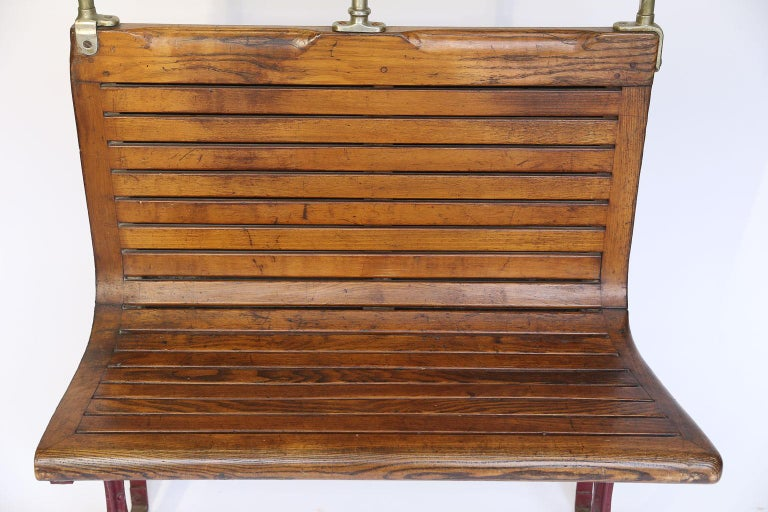 French Paris Metro Car Bench For Sale