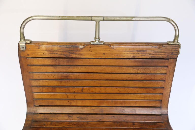 Early 20th Century Paris Metro Car Bench For Sale