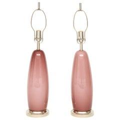 Paris Pink Murano Glass Lamps