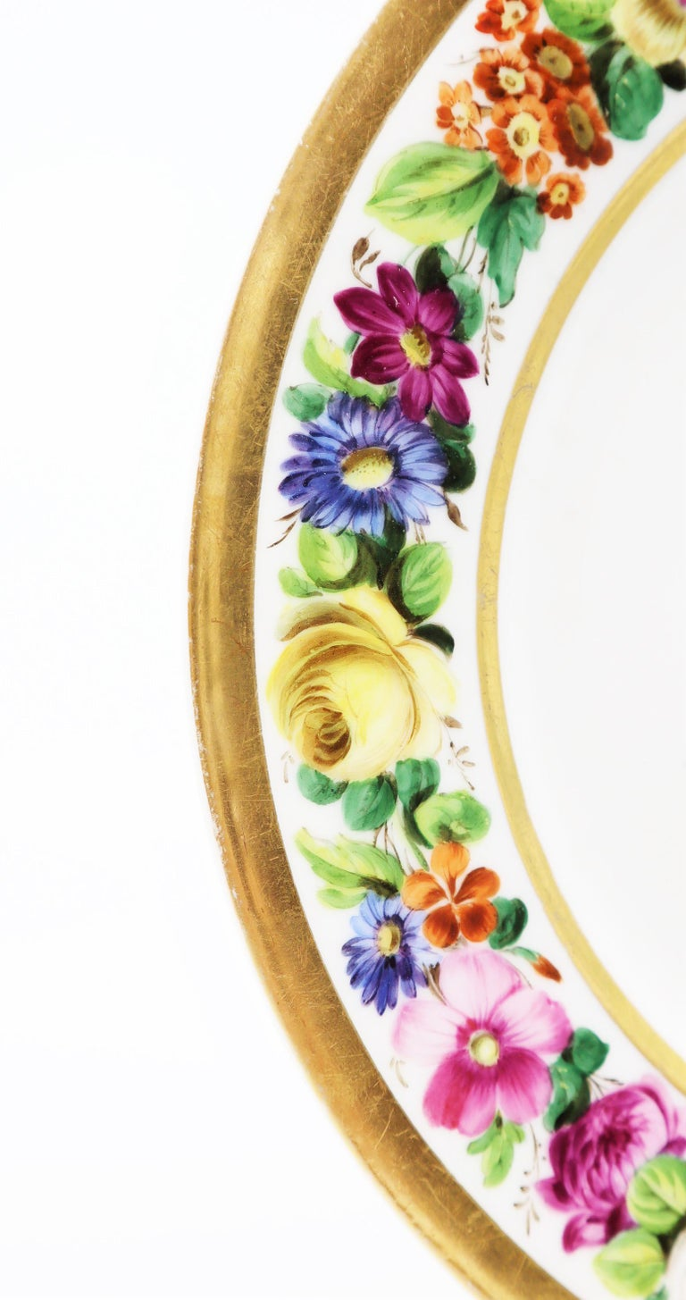 Rare and beautiful hand-painted porcelain, marked for