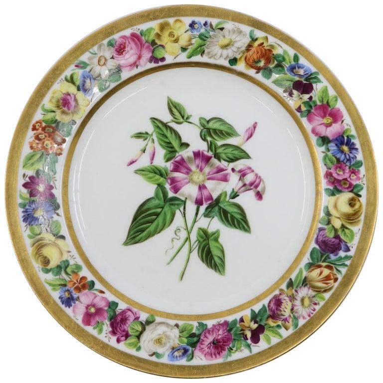 Paris Plate, 19th Century French Porcelain For Sale