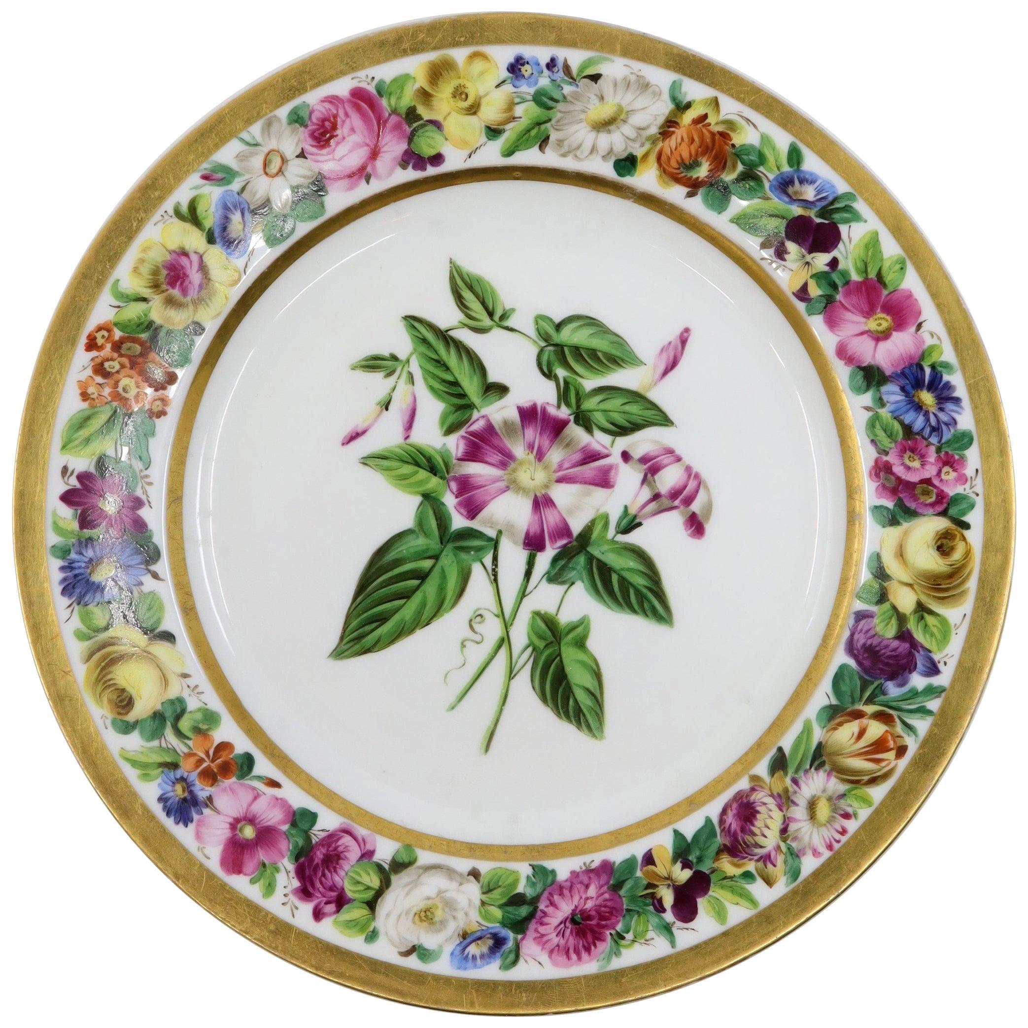 Paris Plate, 19th Century French Porcelain