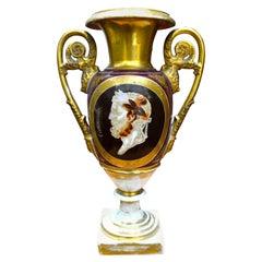 Paris Porcelain Cameo Vase Attributed to Nast