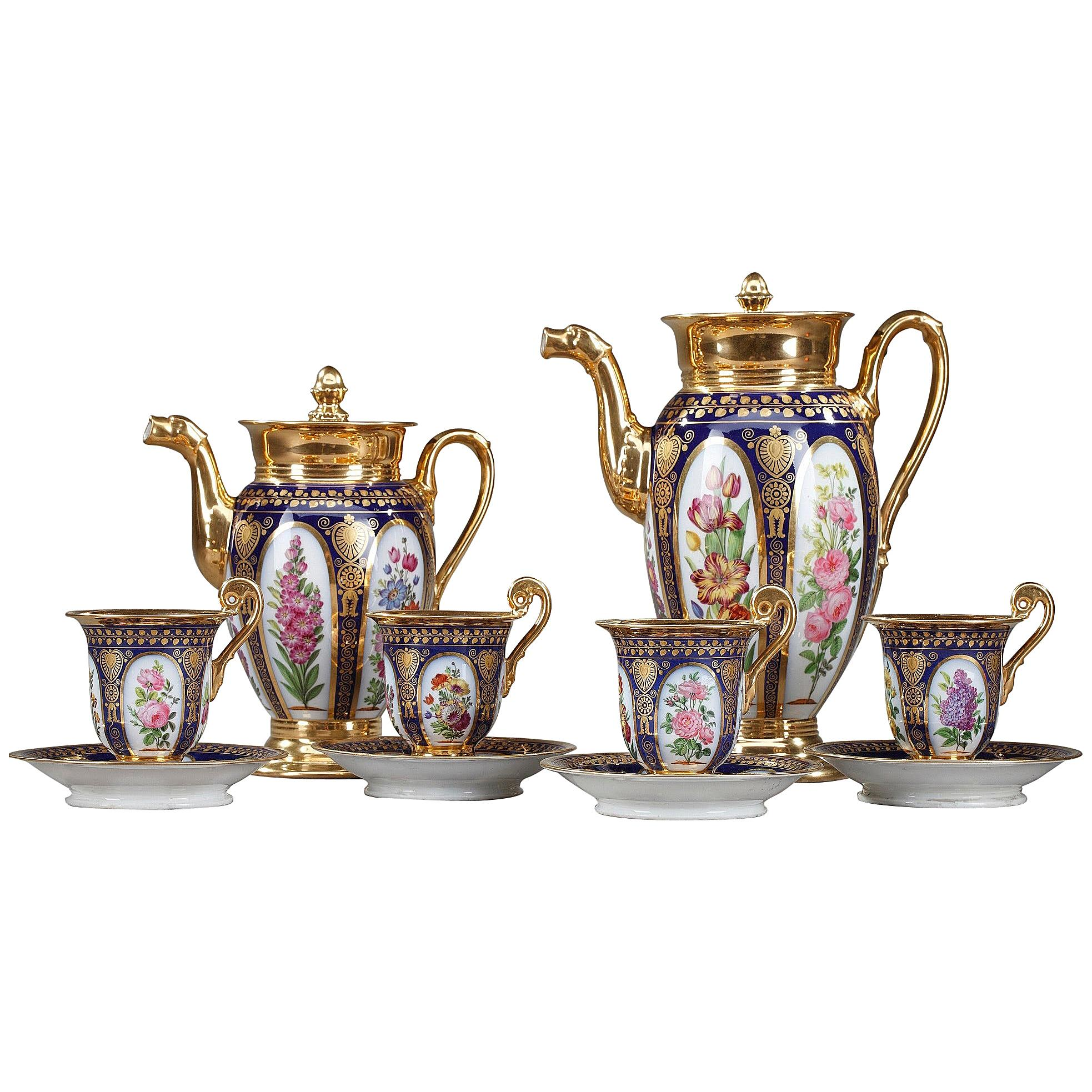 Paris Porcelain Coffee Service in Charles X-Style