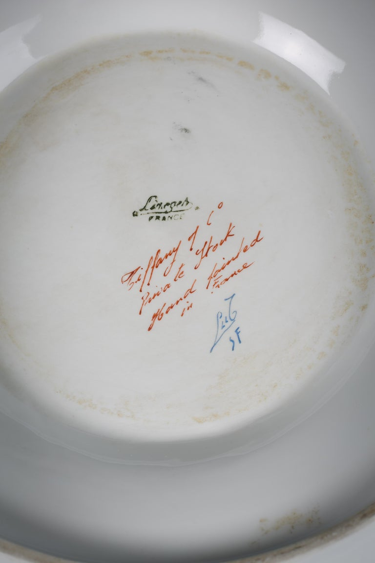 Paris Porcelain Covered Tureen on Stand, Le Tallec, Dated 1959 7