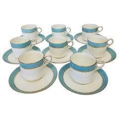 Paris Porcelain Demi Tasse with Gilt and Robins Egg Blue Banding