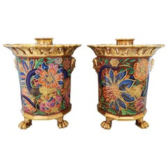 Paris Porcelain Incense Holders Attributed to Jacob Petit, circa 1840