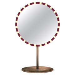 Paris Table Mirror Burgundy by Matteo Cibic