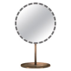 Paris Table Mirror Gray and White by Matteo Cibic
