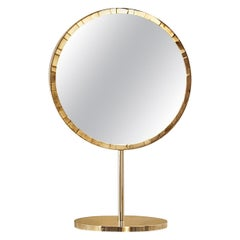 Paris Table Mirror with Brass Inlay by Matteo Cibic