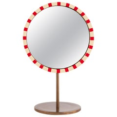 Paris Table Mirror Red and White by Matteo Cibic