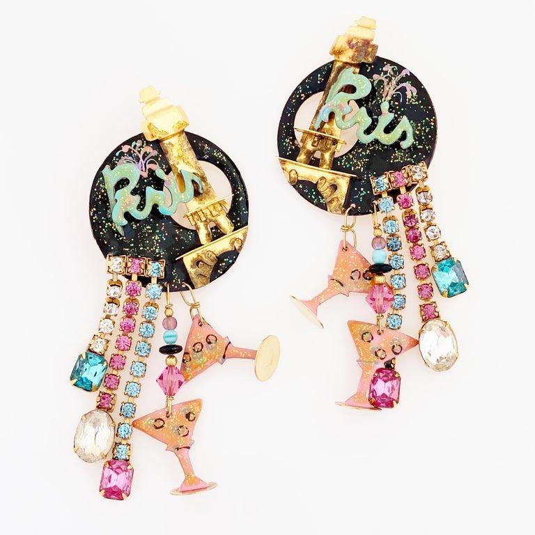 - Vintage item  - Each earring measures 4.5