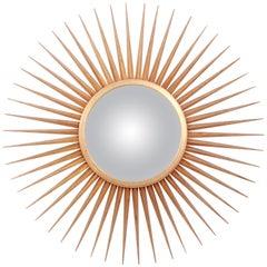 Parish-Hadley for Baker Furniture Gold Gilt Sunburst Convex Mirror