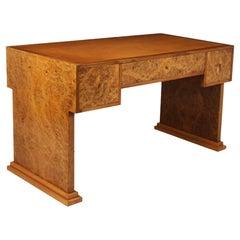 Parisian Art Deco Desk in Burr Maple, C1925