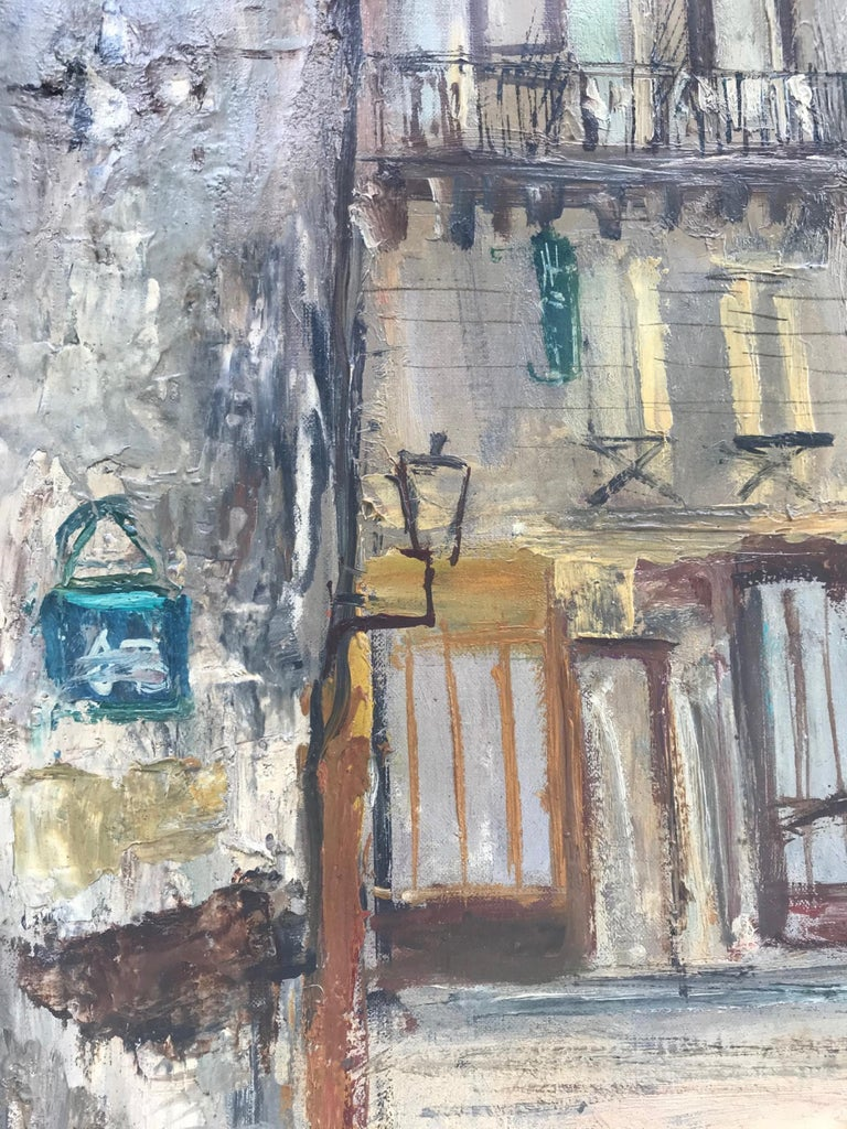 Parisian Cityscape, Signed and Framed Oil on Canvas by Serge Belloni In Good Condition For Sale In Vero Beach, FL