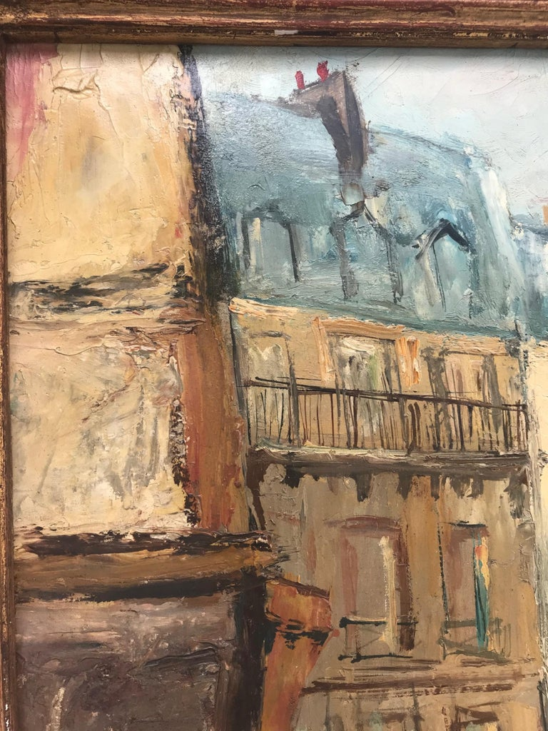 Parisian Cityscape, Signed and Framed Oil on Canvas by Serge Belloni For Sale 1