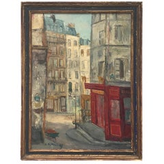 Parisian Cityscape, Signed and Framed Oil on Canvas by Serge Belloni