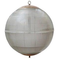 Parisian Mid-Century French Glass Globe Pendant Light