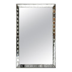 Parisian Mirror with Studded Glass Frame
