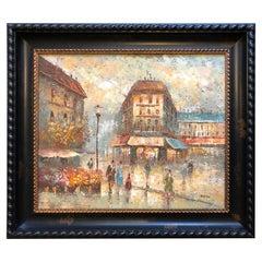 Parisian Street Scene by Edward Barton