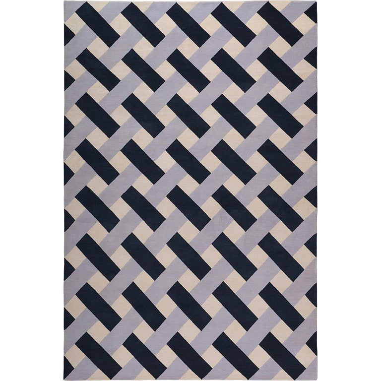 Parisio Hand-Knotted 10x8 Rug in Wool by Suzanne Sharp For Sale