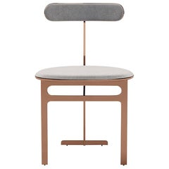 Park Place Dining Chair by Yabu Pushelberg in Rose Copper and Mohair