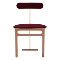 Park Place Dining Chair by Yabu Pushelberg in Rose Copper and Velvet