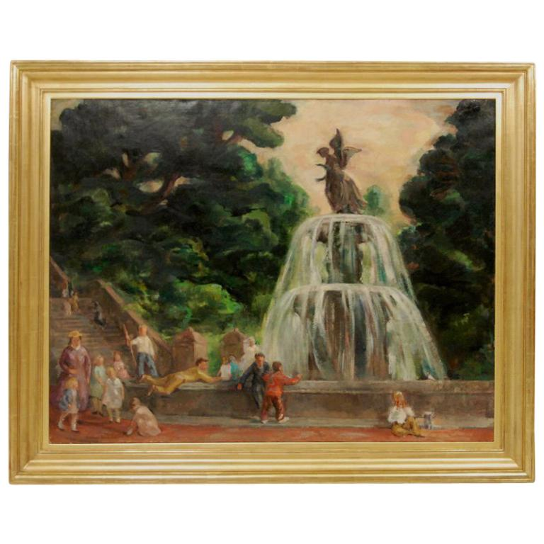 """""""Park Scenes with Figures"""" by Esther Williams"""