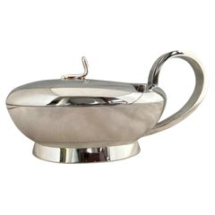 Parmesan Silver Plated Serving Bowl, Attributed to Gio Ponti, for Krupp Milano