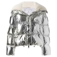 P.A.R.O.S.H. Metallic Shell Padded Jacket