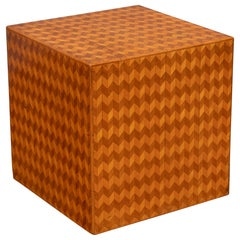 Parquetry Cube Form Side Table