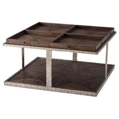 Parquetry Four-Tray Top Coffee Table
