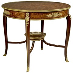 Parquetry Inlaid Centre Table, Attributed to François Linke, circa 1900