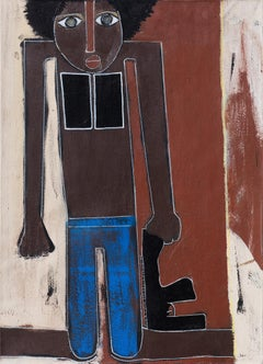 Ambushed in Africa - Expressionist Figurative Painting