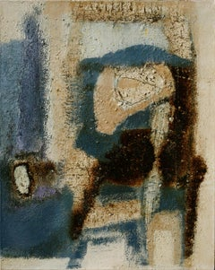 Second Thought - Abstract Versus Figurative Painting with Aqua Blue Colors