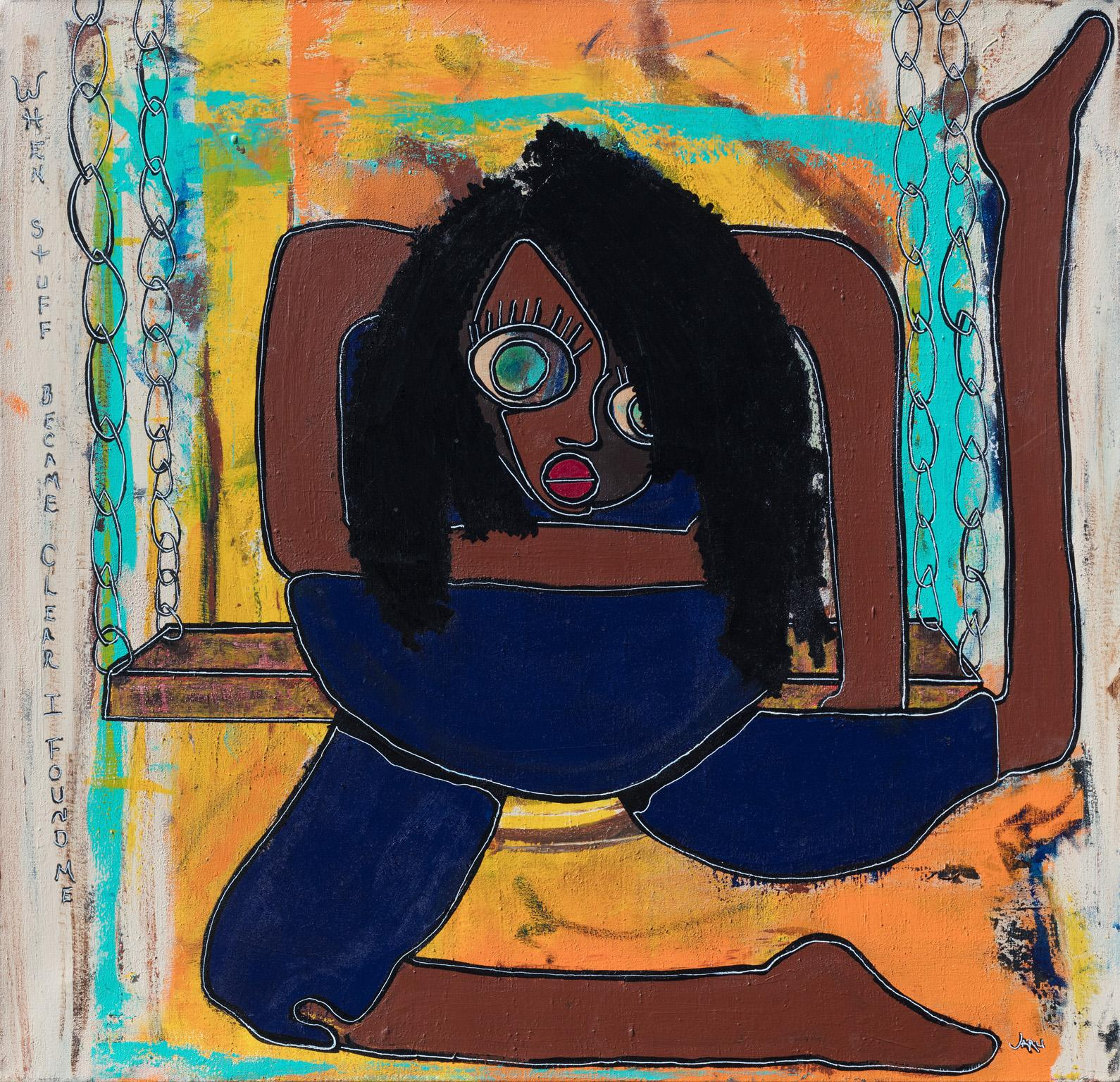 The Skin I'm In - Expressionist Figurative Painting of a Young Woman