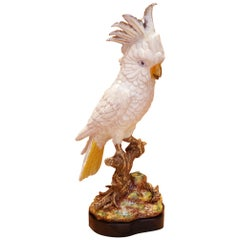 Parrot and Porcelain Sculpture