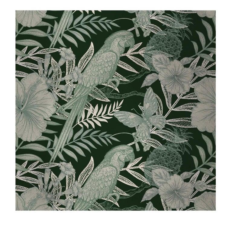 Modern Parrots Green Panel For Sale